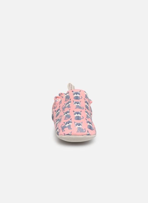 Chaussons Poco Nido Lynx Pink Rose vue portées chaussures