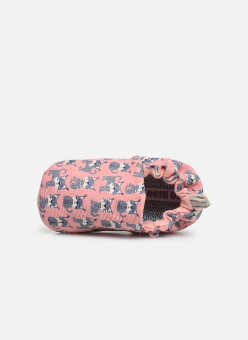 Slippers Poco Nido Lynx Pink Pink view from the left