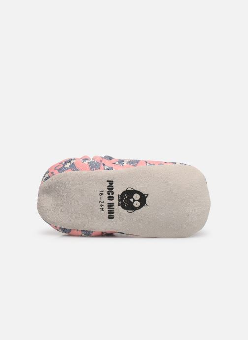Slippers Poco Nido Lynx Pink Pink view from above