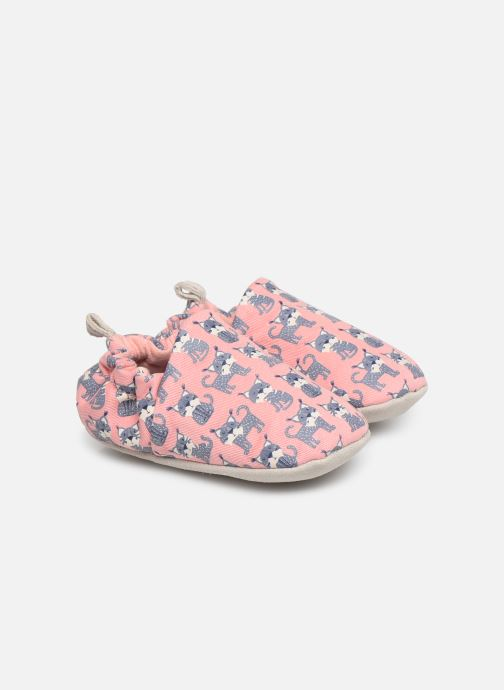 Slippers Poco Nido Lynx Pink Pink detailed view/ Pair view