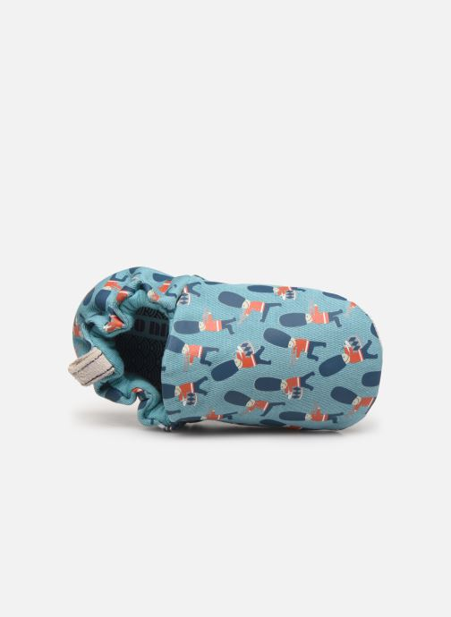 Slippers Poco Nido Queens Guard Blue view from the left