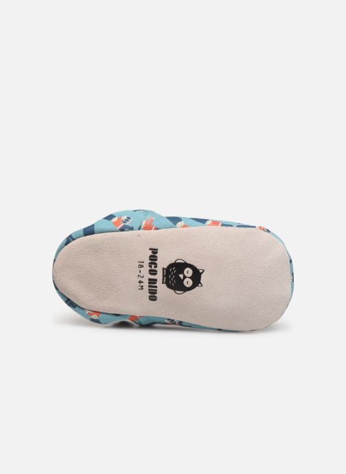 Slippers Poco Nido Queens Guard Blue view from above