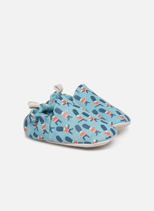 Slippers Poco Nido Queens Guard Blue detailed view/ Pair view