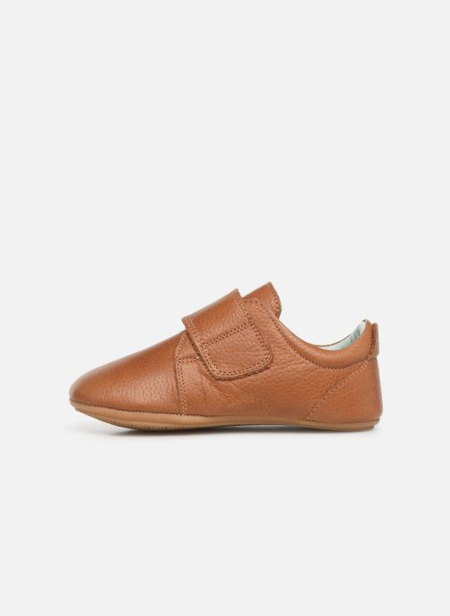Chaussons Poco Nido Velcro Flap Mighty Shoe Marron vue face