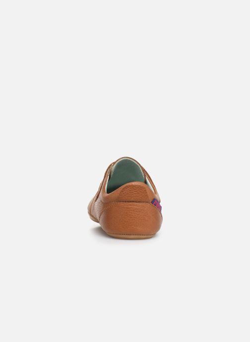 Chaussons Poco Nido Velcro Flap Mighty Shoe Marron vue droite