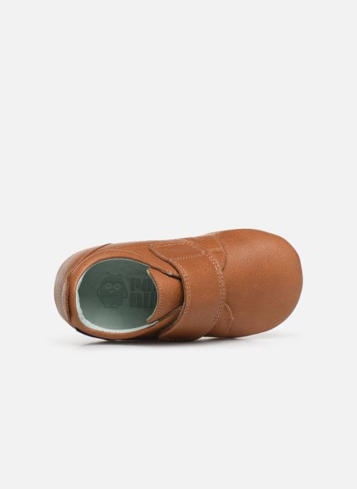 Chaussons Poco Nido Velcro Flap Mighty Shoe Marron vue gauche