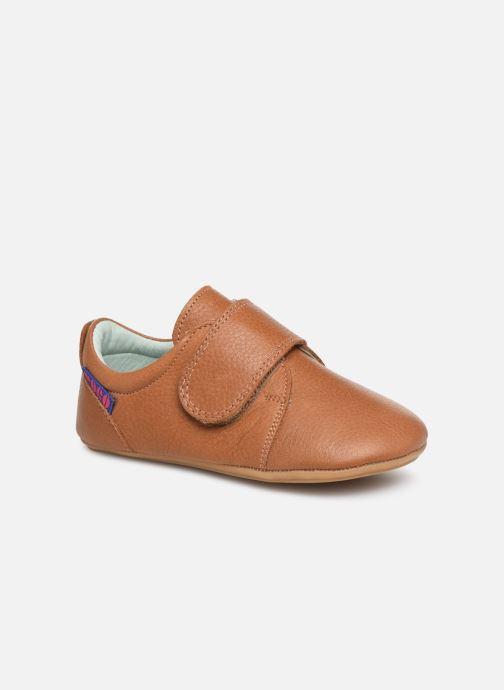 Chaussons Poco Nido Velcro Flap Mighty Shoe Marron vue détail/paire