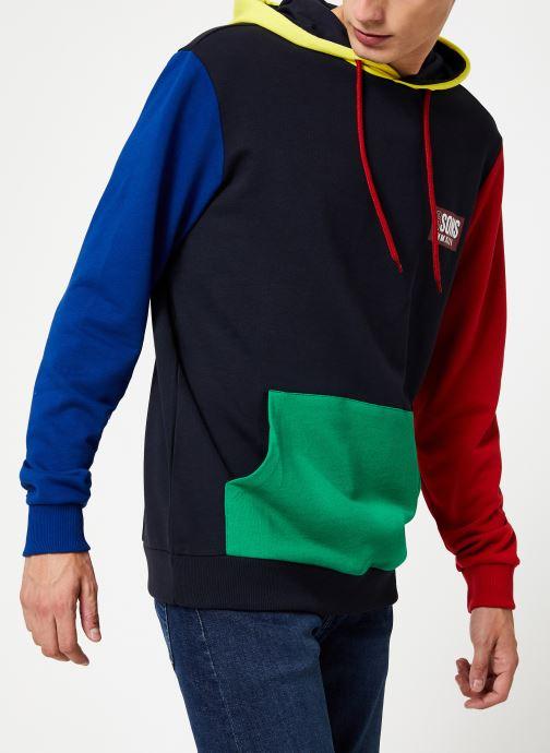 Vêtements Only & Sons Onscolor Sweat Hoodie Bleu vue droite