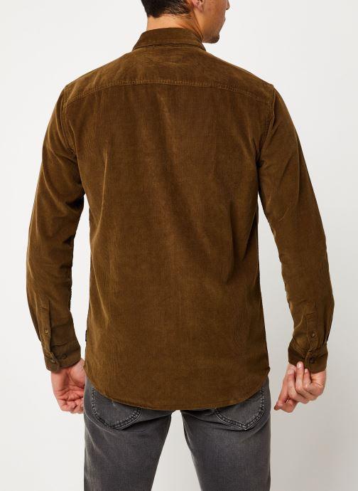 Vêtements Only & Sons Onsgeorg Shirt Marron vue portées chaussures
