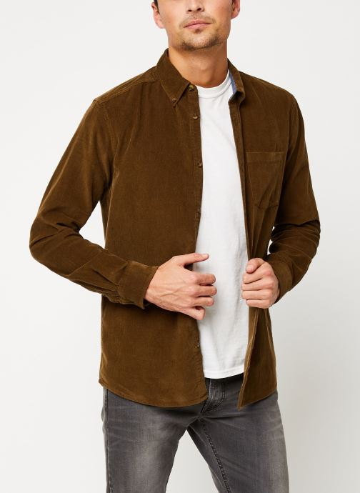 Vêtements Only & Sons Onsgeorg Shirt Marron vue droite