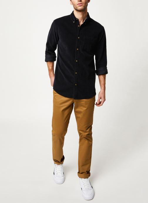 Vêtements Only & Sons Onsgeorg Shirt Noir vue bas / vue portée sac