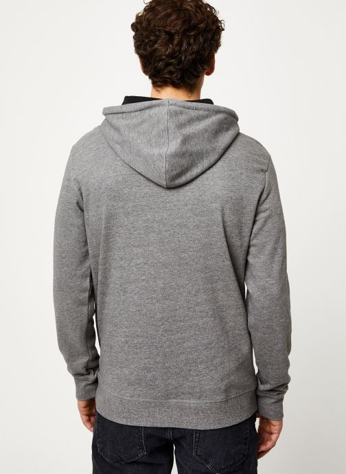 Vêtements Only & Sons Onsmkeith Sweat Hoodie Gris vue portées chaussures