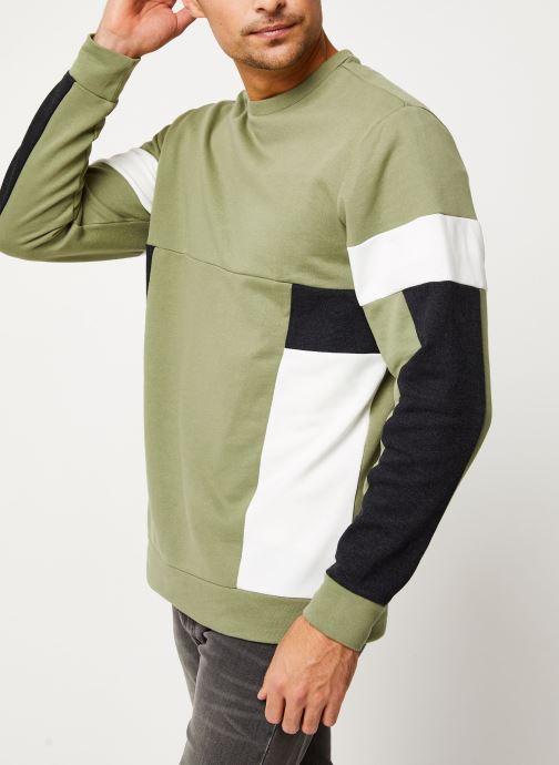 Vêtements Only & Sons Onsmdustin Sweat Vert vue droite