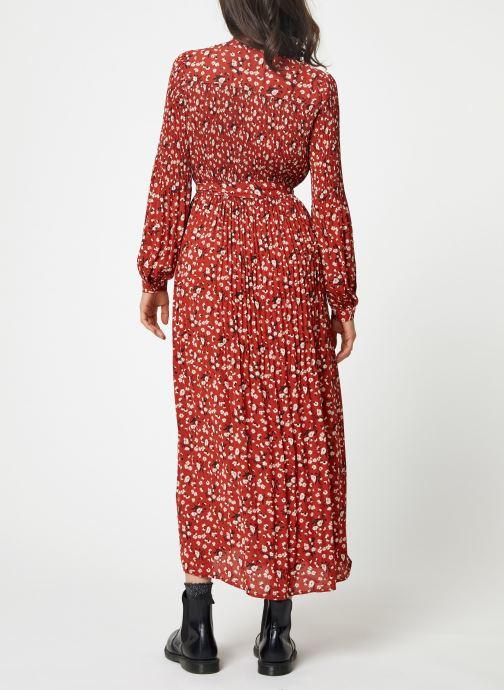 Vêtements Selected Femme Slfpoppy Dress Rouge vue portées chaussures