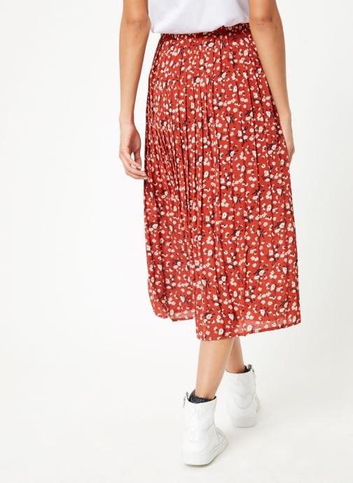 Vêtements Selected Femme Slfpoppy Skirt Marron vue portées chaussures
