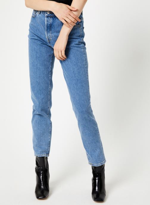 Vêtements Selected Femme Slflou Pant Bleu vue détail/paire
