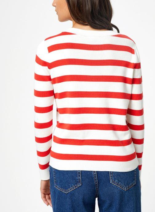 Vêtements Selected Femme Slfalina Knit Rouge vue portées chaussures
