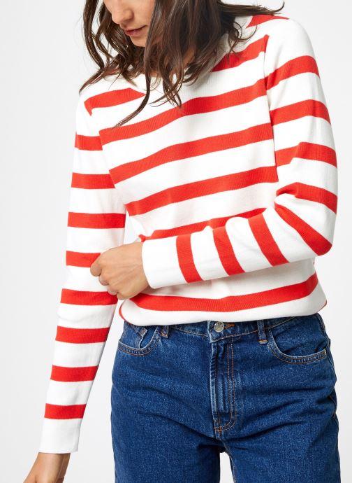 Vêtements Selected Femme Slfalina Knit Rouge vue droite