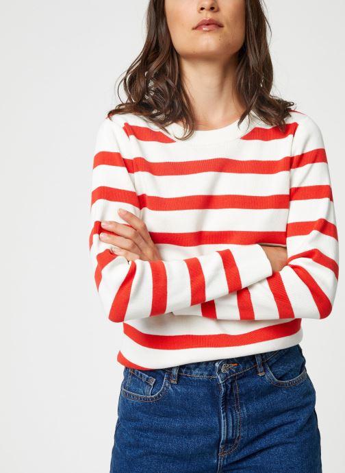 Vêtements Selected Femme Slfalina Knit Rouge vue détail/paire