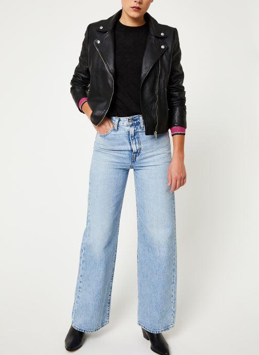 Vêtements Selected Femme Slfmarlen Leather Jacket Noir vue bas / vue portée sac