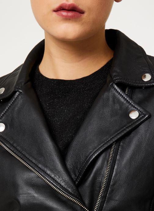 Vêtements Selected Femme Slfmarlen Leather Jacket Noir vue face