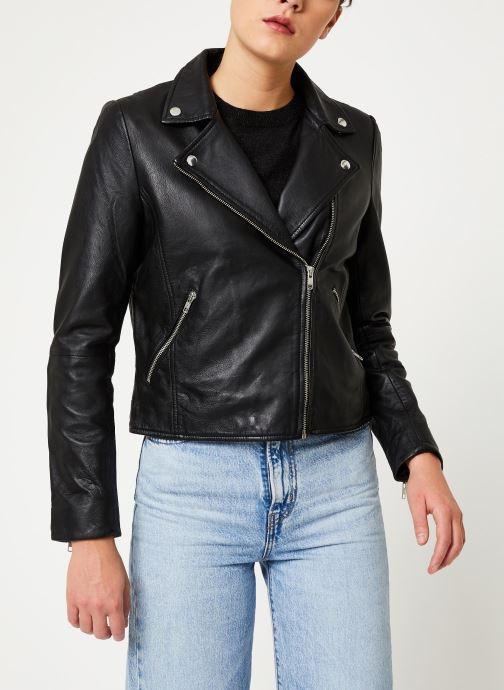 Vêtements Selected Femme Slfmarlen Leather Jacket Noir vue droite