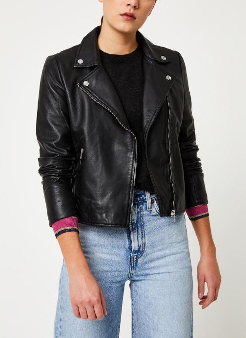 Vêtements Selected Femme Slfmarlen Leather Jacket Noir vue détail/paire
