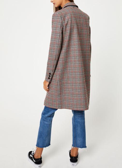 Vêtements Selected Femme Slfsasja Coat Rouge vue portées chaussures