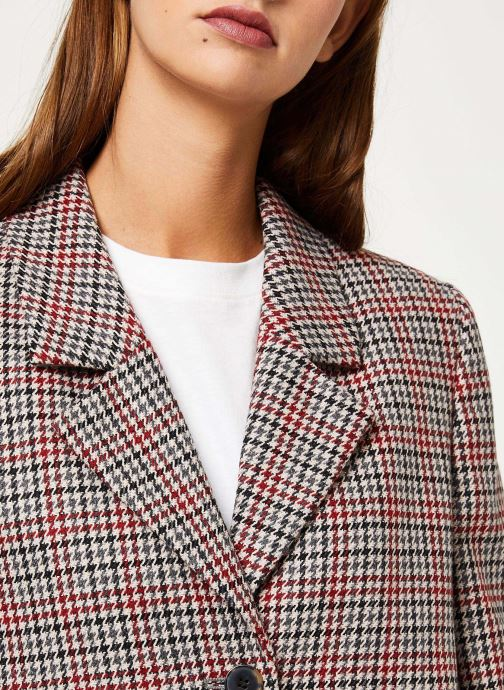 Vêtements Selected Femme Slfsasja Coat Rouge vue face