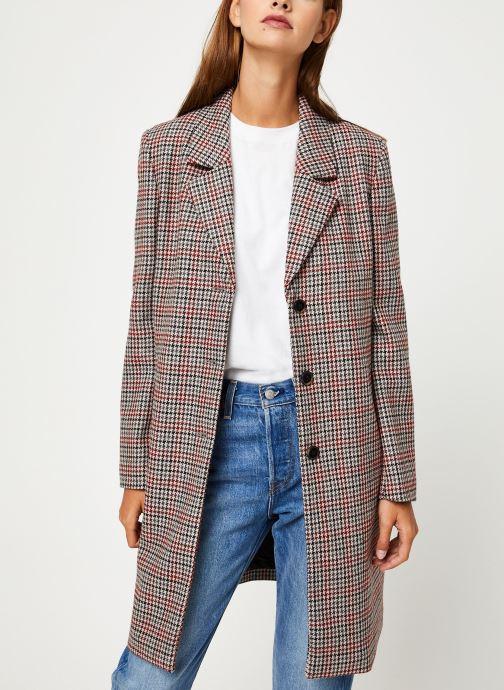 Vêtements Selected Femme Slfsasja Coat Rouge vue détail/paire