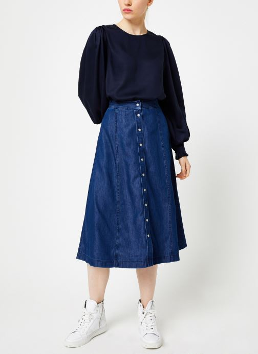 Vêtements Selected Femme Slfpaige Top Bleu vue bas / vue portée sac