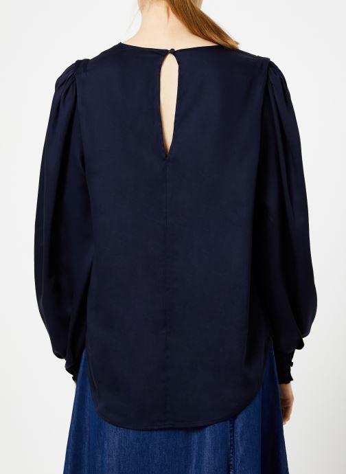 Vêtements Selected Femme Slfpaige Top Bleu vue portées chaussures