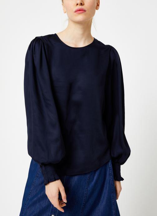Vêtements Selected Femme Slfpaige Top Bleu vue droite