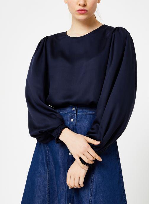 Vêtements Selected Femme Slfpaige Top Bleu vue détail/paire