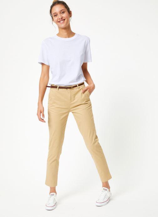 Vêtements Selected Femme Slfmy Tee Blanc vue bas / vue portée sac