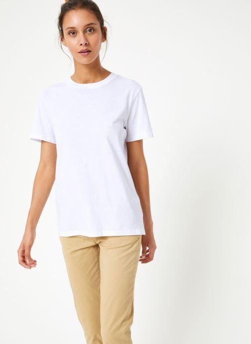 Vêtements Selected Femme Slfmy Tee Blanc vue droite