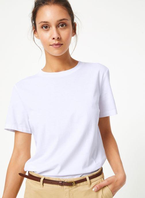 Vêtements Selected Femme Slfmy Tee Blanc vue détail/paire