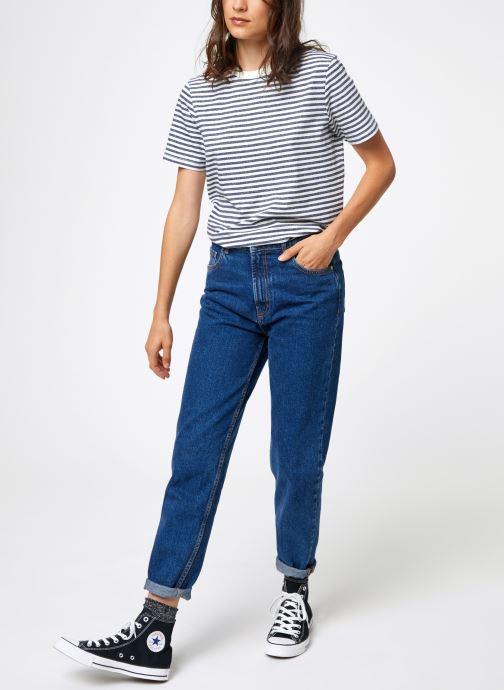 Vêtements Selected Femme Slfmy Stripes Tee Bleu vue bas / vue portée sac