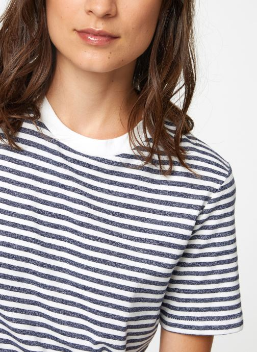 Vêtements Selected Femme Slfmy Stripes Tee Bleu vue face