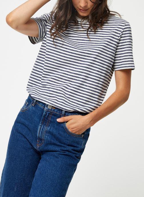 Kleding Selected Femme Slfmy Stripes Tee Blauw detail