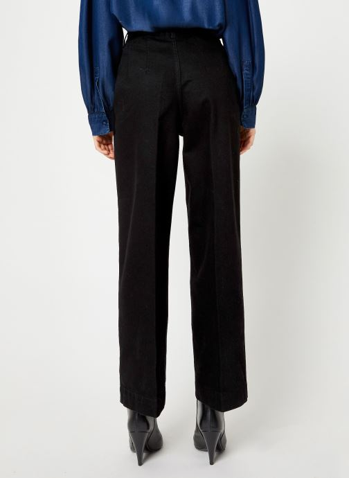 Vêtements Selected Femme Slfsusan Jeans Noir vue portées chaussures