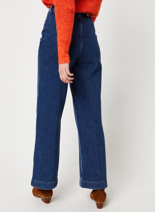 Vêtements Selected Femme Slfsusan Jeans Bleu vue portées chaussures
