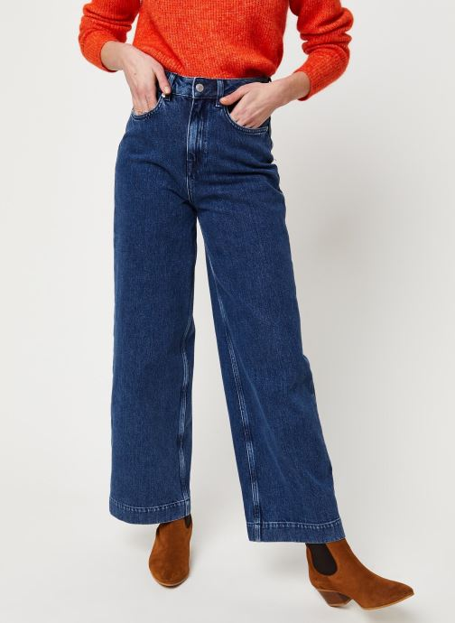 Vêtements Selected Femme Slfsusan Jeans Bleu vue détail/paire