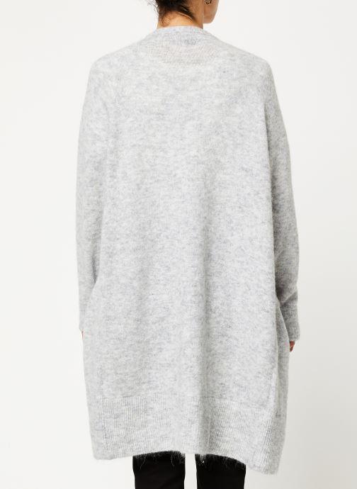 Vêtements Selected Femme Slflanna Knit Cardigan Gris vue portées chaussures