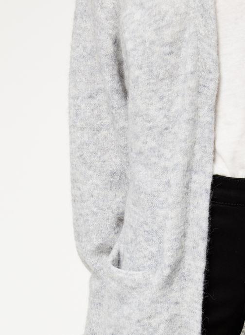 Vêtements Selected Femme Slflanna Knit Cardigan Gris vue face