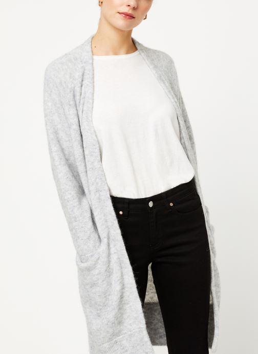 Vêtements Selected Femme Slflanna Knit Cardigan Gris vue droite