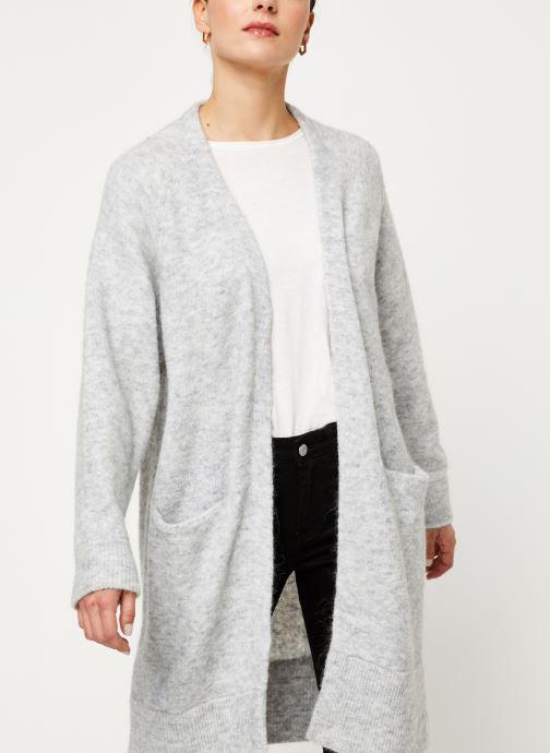 Vêtements Selected Femme Slflanna Knit Cardigan Gris vue détail/paire