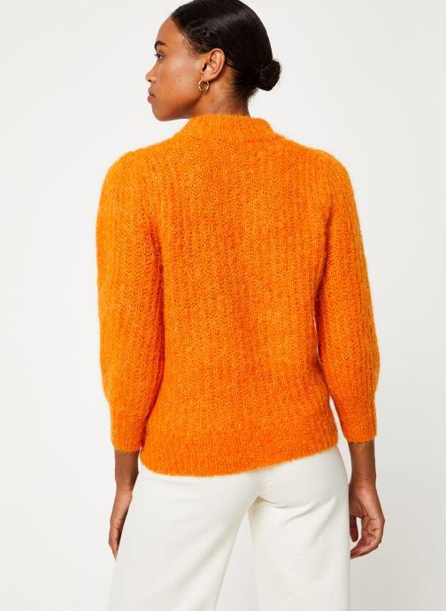 Vêtements Selected Femme Slfpippa Knit Orange vue portées chaussures