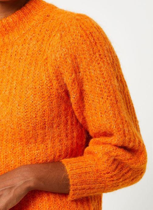 Vêtements Selected Femme Slfpippa Knit Orange vue face