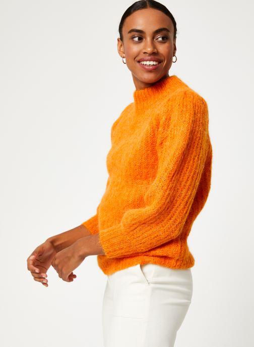 Vêtements Selected Femme Slfpippa Knit Orange vue droite